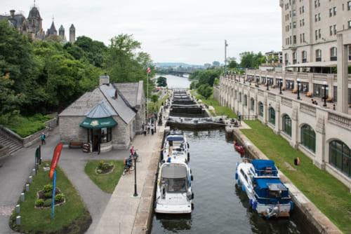 オタワからキングストンまでを結ぶ202kmの運河