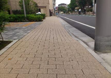 道路と歩道