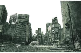 元田久治 《 Indication: Shibuya Center Town》 2005年 リトグラフ 作家蔵