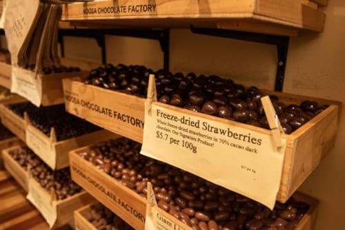 自社製のカカオを使用し、チョコは50種類以上の品揃え。<Noosa Chocolate Factory>144 Adelaide St, Brisbane City QLD 4000