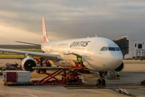 成田ーブリスベン間は、カンタス航空の直行便で9時間10分のフライト
