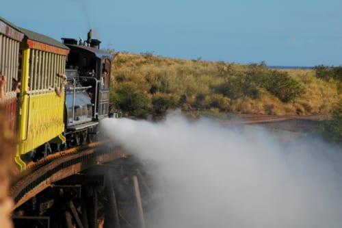木製橋が多かったマウイ島の鉄道