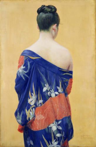 岡田三郎助《あやめの衣》1927(昭和2)年 ポーラ美術館蔵
