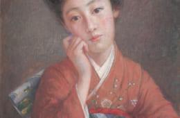 岡田三郎助《ダイヤモンドの女》1908(明治41)年 福富太郎コレクション資料室蔵