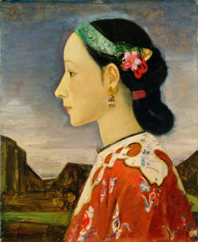 藤島武二《女の横顔》1926-1927(大正15-昭和2)年 ポーラ美術館蔵