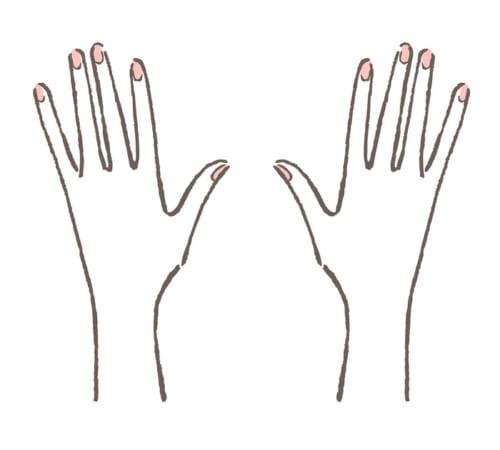 ぐーぱーの動きで手指足先を温めよう