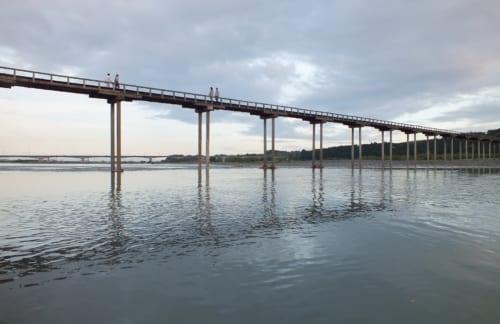 世界一長い木造橋と歩ける鉄橋 (静岡県・島田市商工会、川根本町商工会)