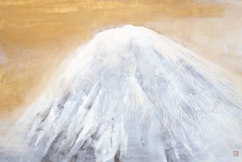 奥村土牛《富士宮の富士》1982(昭和57)年 紙本・彩色 山種美術館蔵