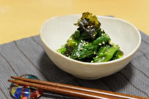小松菜の韓国風おひたし
