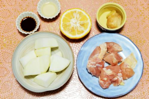 鶏肉と大根のゆず風味煮込み・材料