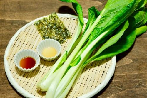 小松菜の韓国風おひたし・材料