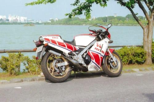 当時の大型自動二輪免許は取得が困難で、限られた人しか排気量401cc以上のオートバイに乗れなかった(RZV500Rの排気量は499cc)。