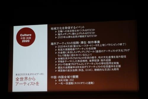 吉本氏が考案したプラン「Culture中国・四国2020」の一部