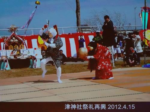 県内最大の沿岸漁業の漁師町、相馬市原釜の津神社の祭礼再興(2012年4月15日)