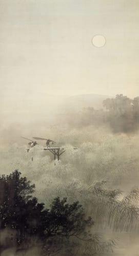 川合玉堂《夕月夜》大正2年(1913)足立美術館蔵