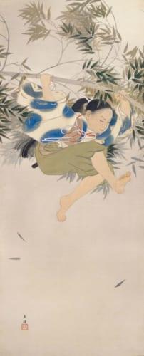 小林古径《阿新丸》明治40年(1907)足立美術館蔵