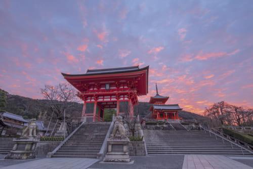 美しい空気が張り詰めている、清水寺