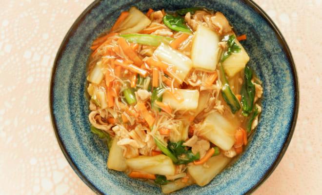 野菜たっぷり干し貝柱の中華丼