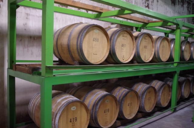 自社畑のシャルドネは225Lや228Lの樽を使って熟成させる。ナチュラルさやスムーズさ、酸とボリューム感のバランスがよい。