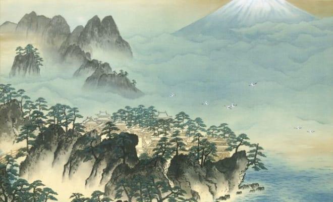 横山大観《蓬萊山》昭和23年(1948)足立美術館蔵