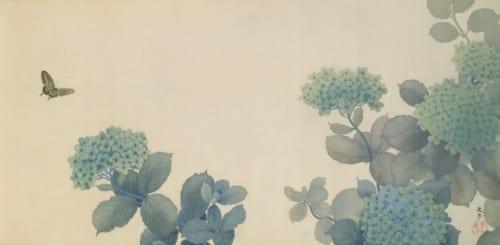 菱田春草《紫陽花》明治35年(1902)足立美術館蔵