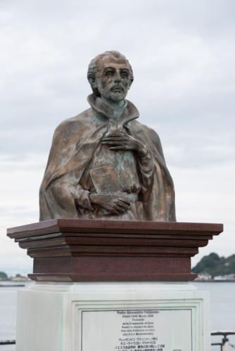 イエズス会の巡察使として来日したヴァリニャーノ(南島原市口之津公園にある銅像)