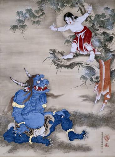 曽我蕭白 《雪山童子図》 紙本着色 一幅 169.8×124.8cm 明和元年(1764)頃 三重・継松寺