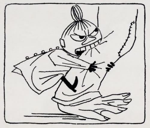 トーベ・ヤンソン《「ムーミン谷の夏まつり」挿絵》1954年 ムーミン美術館蔵