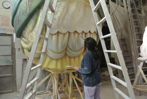チモの工房では本人と息子を含め6人が働く