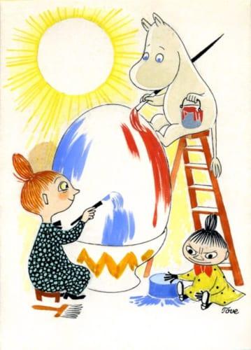 トーベ・ヤンソン《イースターカード原画》1950年代 ムーミンキャラクターズ社蔵