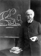 蒸気機関車の車窓から大森貝塚を発見したモース(1838~1925年)