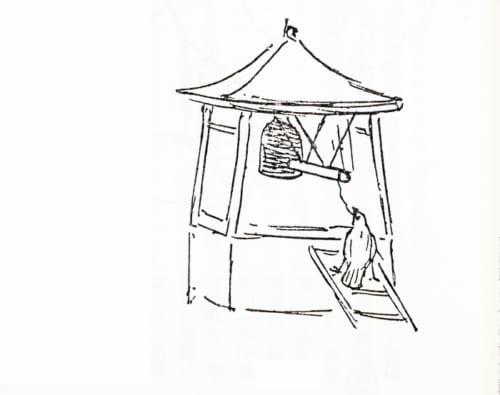 寺の鐘撞きの芸