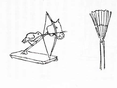 那須与一の弓矢芸では扇を矢で射落とす