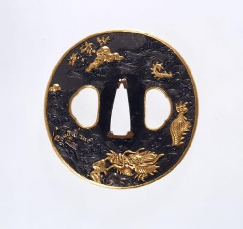 黄石公張良図鐔(裏) 後藤 江戸時代(17世紀)  静嘉堂文庫美術館蔵