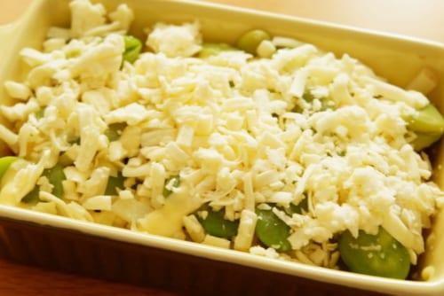 オーブントースターでチーズに焦げ目が付くまで焼いたら完成