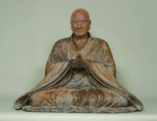 重要文化財 《真教上人坐像》 鎌倉時代、神奈川・蓮台寺蔵、通期