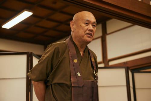 典座和尚・小金山泰玄氏。大本山総持寺の典座を務めた後、可睡齋の典座として精進料理の創作研究をされています。