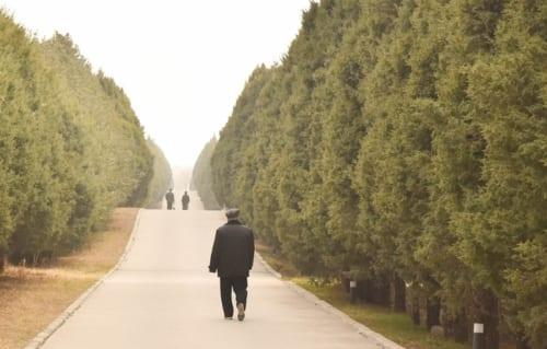 秦始皇帝陵は歩道が整備され、古代ロマンを味わいながら散策できる