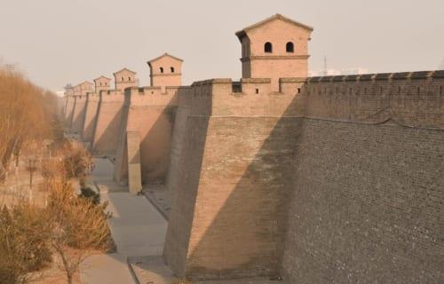 平遥古城を囲む城壁には備えられた、「敵楼」と呼ばれる櫓(やぐら)