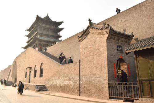城壁上へ登ることができる北門(拱極門)