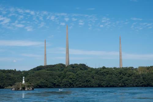 針尾無線塔。国の重要文化財になっている。