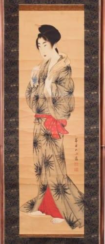 岩崎如水《湯上り美人図》江戸時代 19世紀前半 個人蔵 通期展示