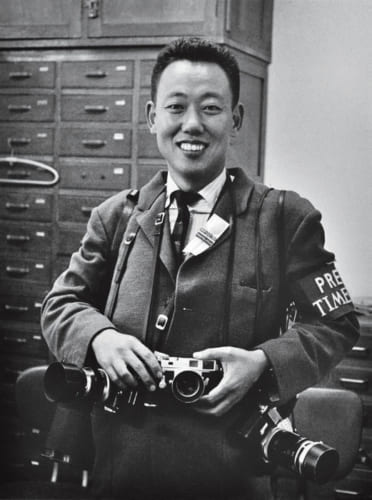昭和39年、東京オリンピックを取材する35歳のころ。このときタイム・ライフ社の仕事を手伝い、のちに『ライフ』と契約する。