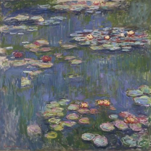 クロード・モネ《睡蓮》1916年 油彩、カンヴァス 国立西洋美術館(松方コレクション) 松方は、モネのジヴェルニーのアトリエを訪ね、画家から直接この絵を購入した。