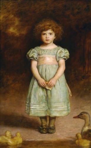 ジョン・エヴァリット・ミレイ《あひるの子》1889年 油彩、カンヴァス 国立西洋美術館(旧松方コレクション) 松方はミレイやロセッティなどラファエル前派の作品も集めている。
