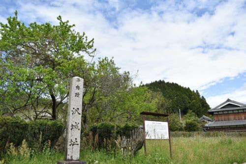 標高約525mの山頂に築かれた沢城。多感な時期の高山右近が過ごした