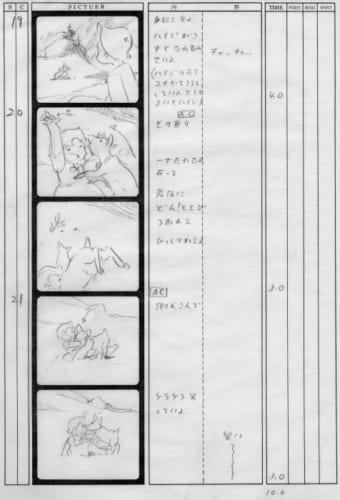 「アルプスの少女ハイジ」絵コンテ (C)ZUIYO 「アルプスの少女ハイジ」 公式ホームページhttp://www.heidi.ne.jp/
