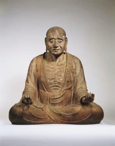 国宝「義淵僧正坐像」奈良時代・8世紀 奈良・岡寺蔵 画像提供・奈良国立博物館