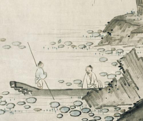重要美術品 周茂叔愛蓮図(部分) 伝小栗宗湛筆 1幅 日本・室町時代 15-16世紀 根津美術館蔵