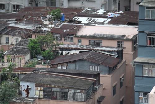 油麻地と同じ九龍地区の屋上スラム。